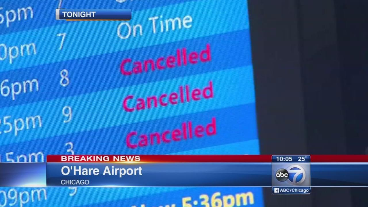 Flights canceled at Chicago airports ahead of blizzard