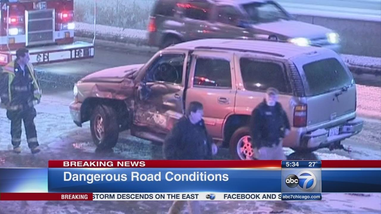 Chicago Weather: Freezing rains leads to multiple crashes