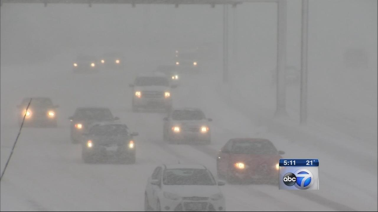 Blizzard conditions affecting travel on road, air, rail