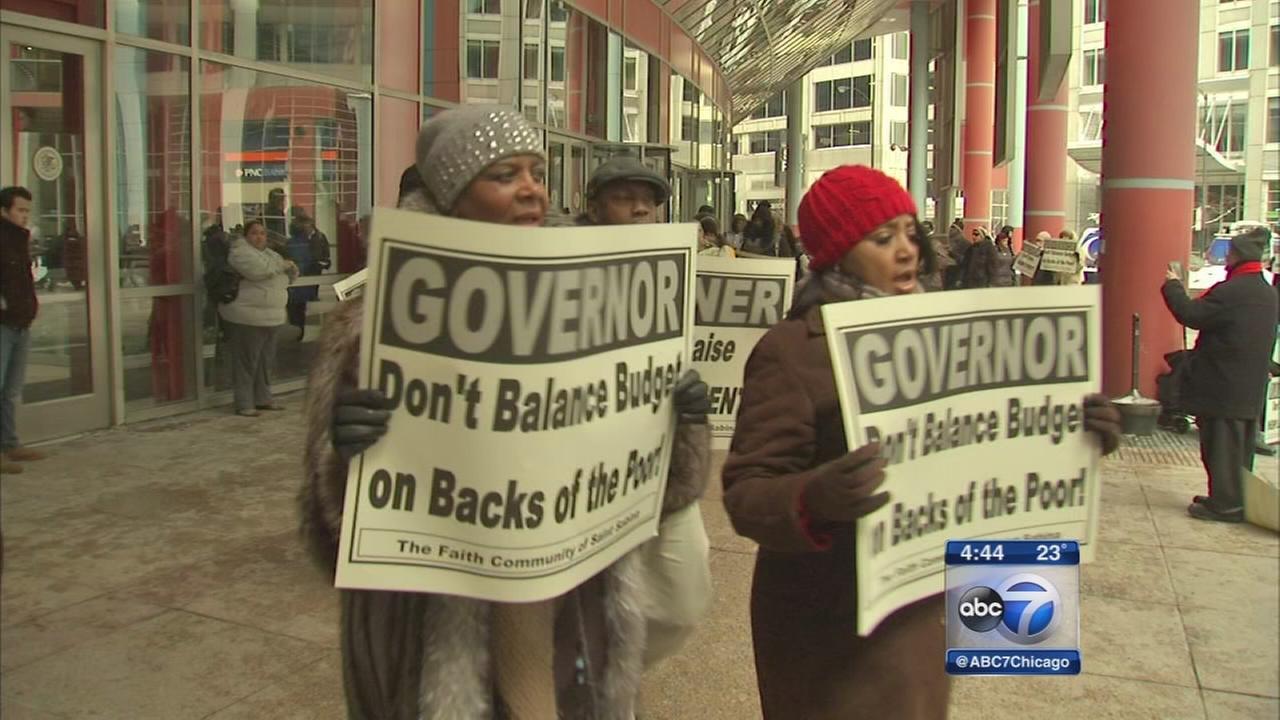 Activists demand explanations for Rauner budget cuts