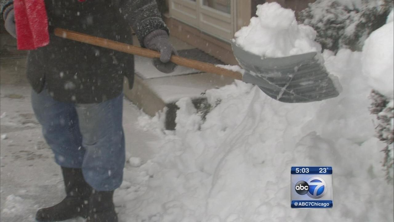 Shoveling snow safely