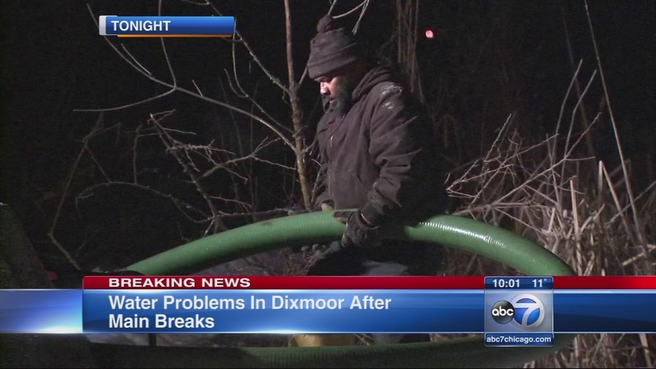 Water main breaks in Dixmoor