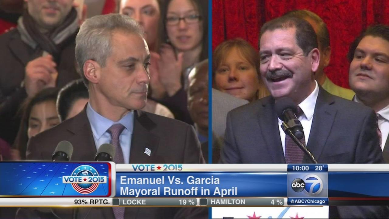 Emanuel to face Garcia in April runoff election