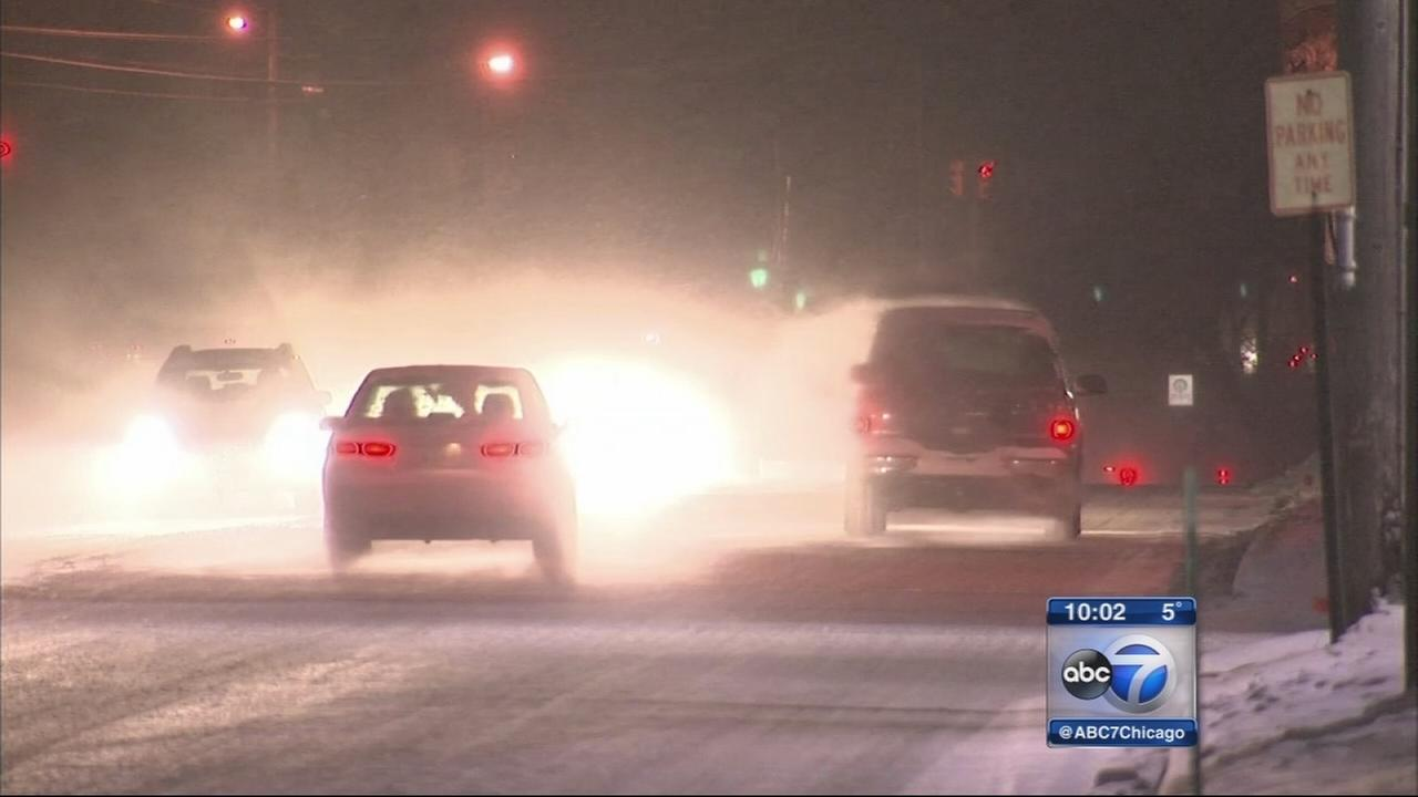 Lake-effect snow piles up in Northwest Indiana