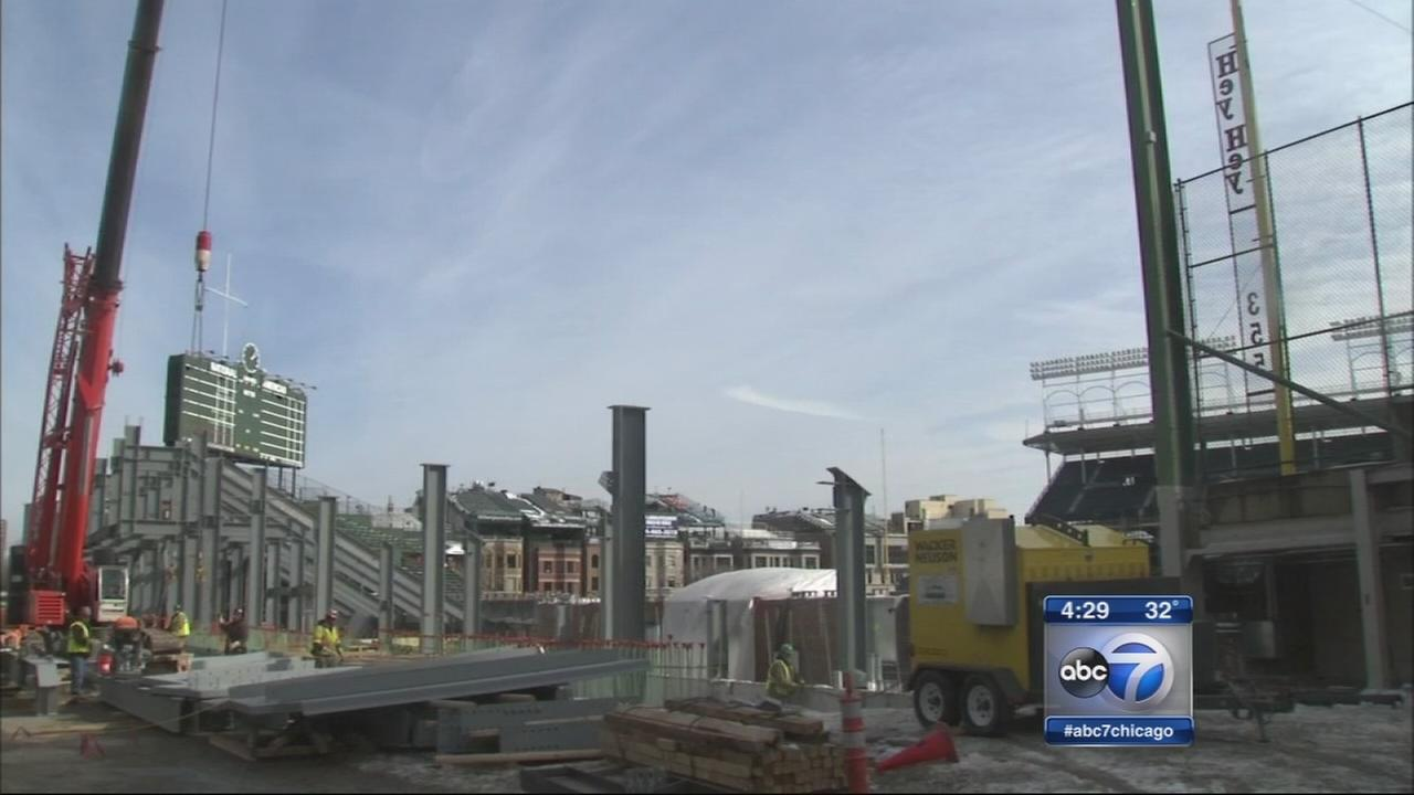 Cubs offer inside look at Wrigley project