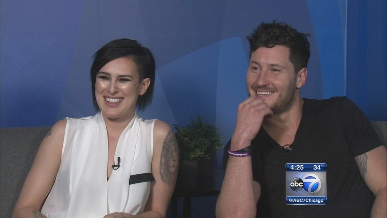 Rumer Willis, Val Chmerkovskiy rehearse for DWTS in Chicago