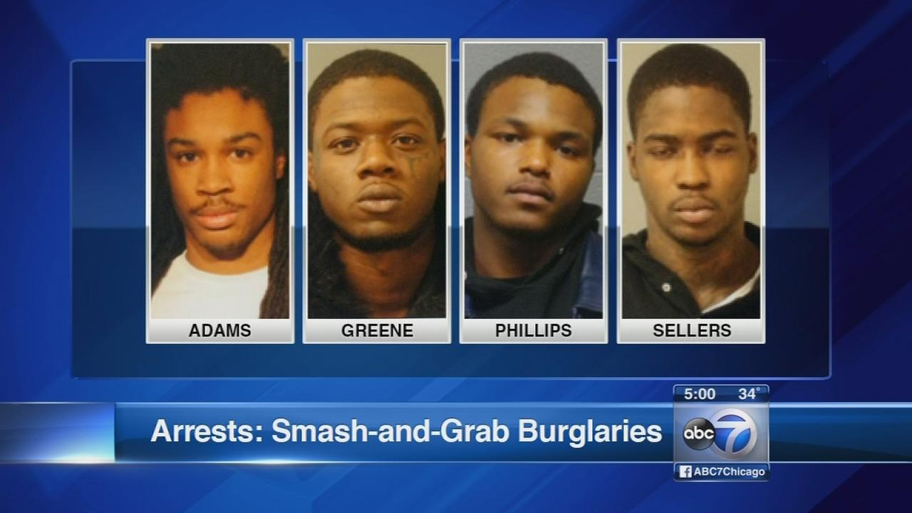 Police arrest several in smash-and-grab burglaries