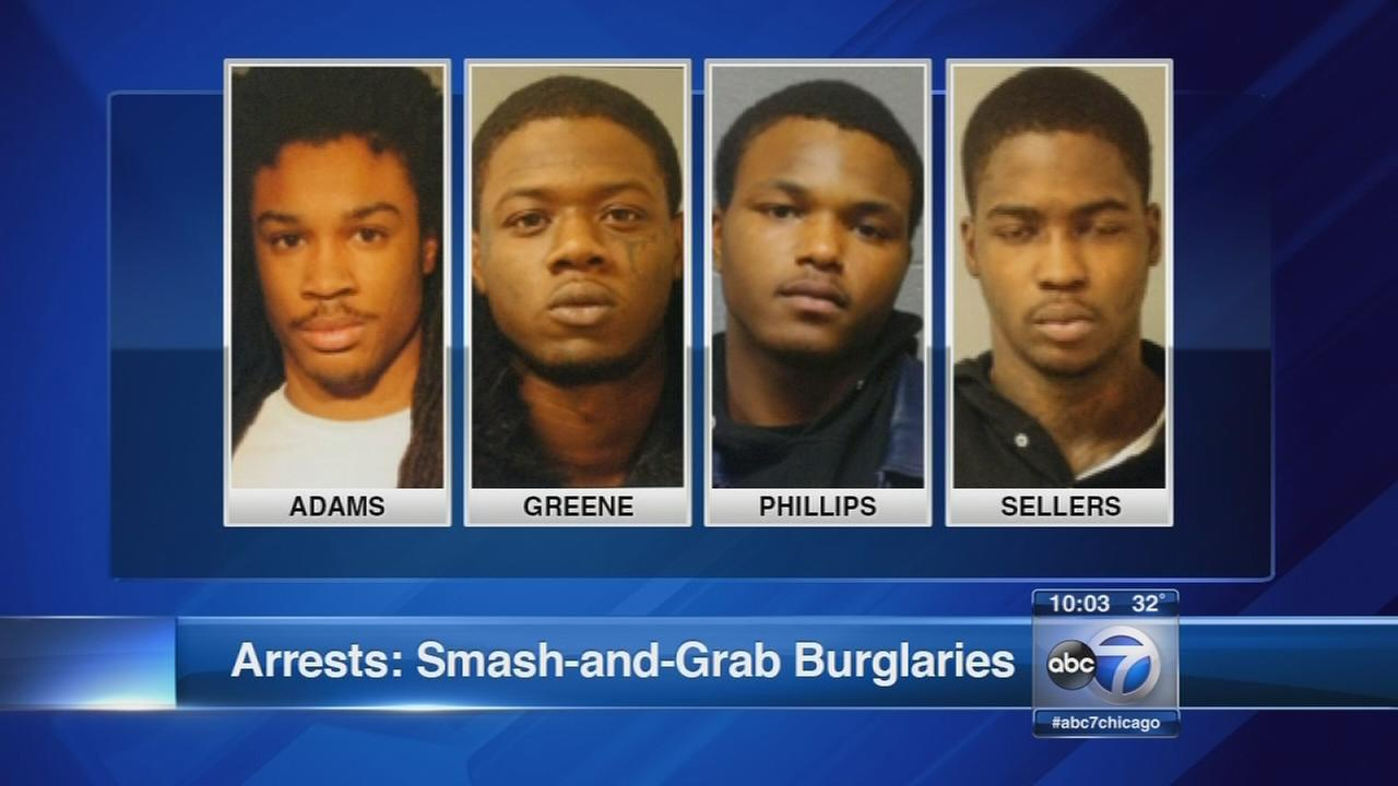 Arrests made in smash-and-grab burglaries