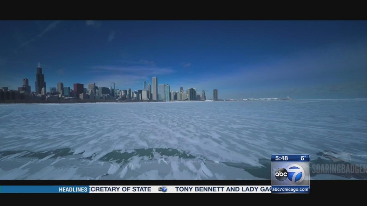 Drone video captures Chicago