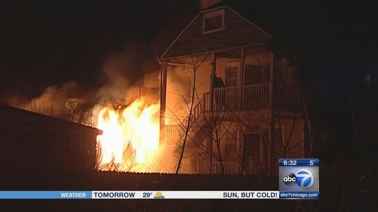3 Englewood homes catch fire