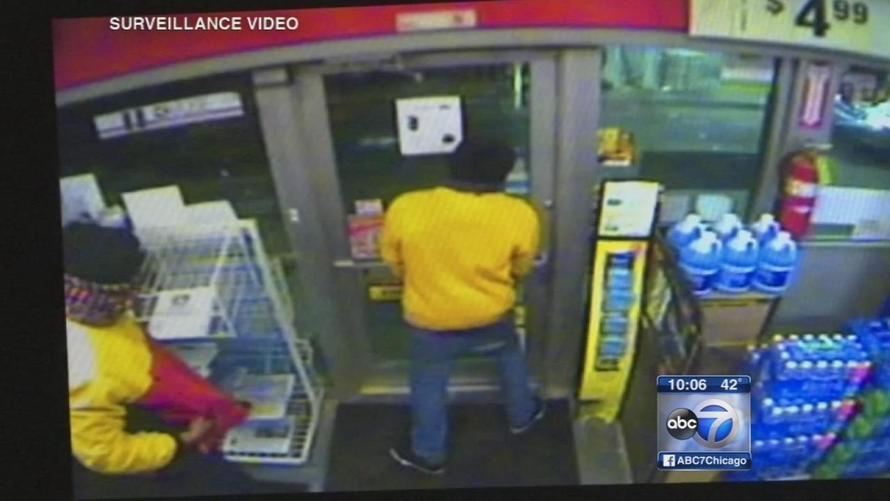 Video shows clerk lock suspects inside gas station