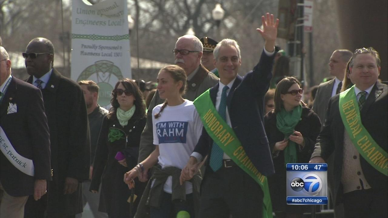 New KeywordMayoral election takes center stage at St. Patricks Day Parade