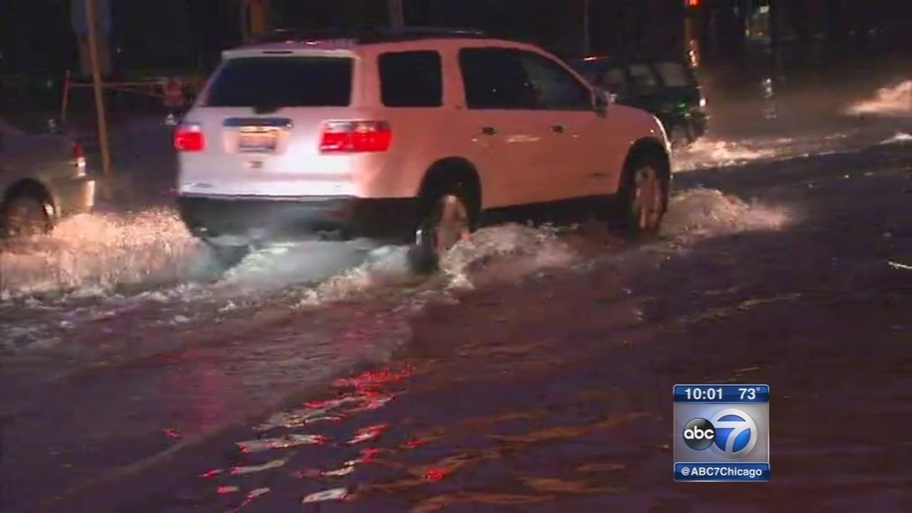 Streets flooded after storms hit north suburbs