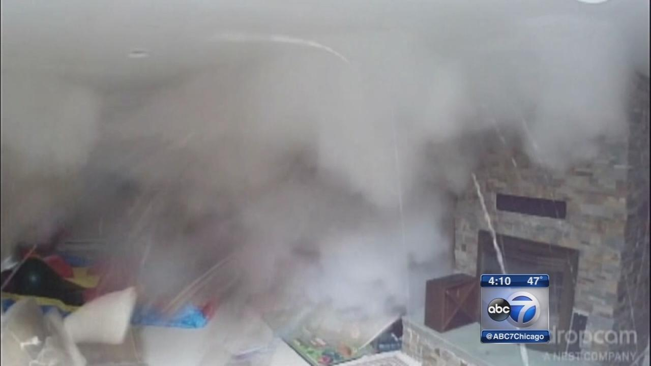 Home boiler explosion caught on camera