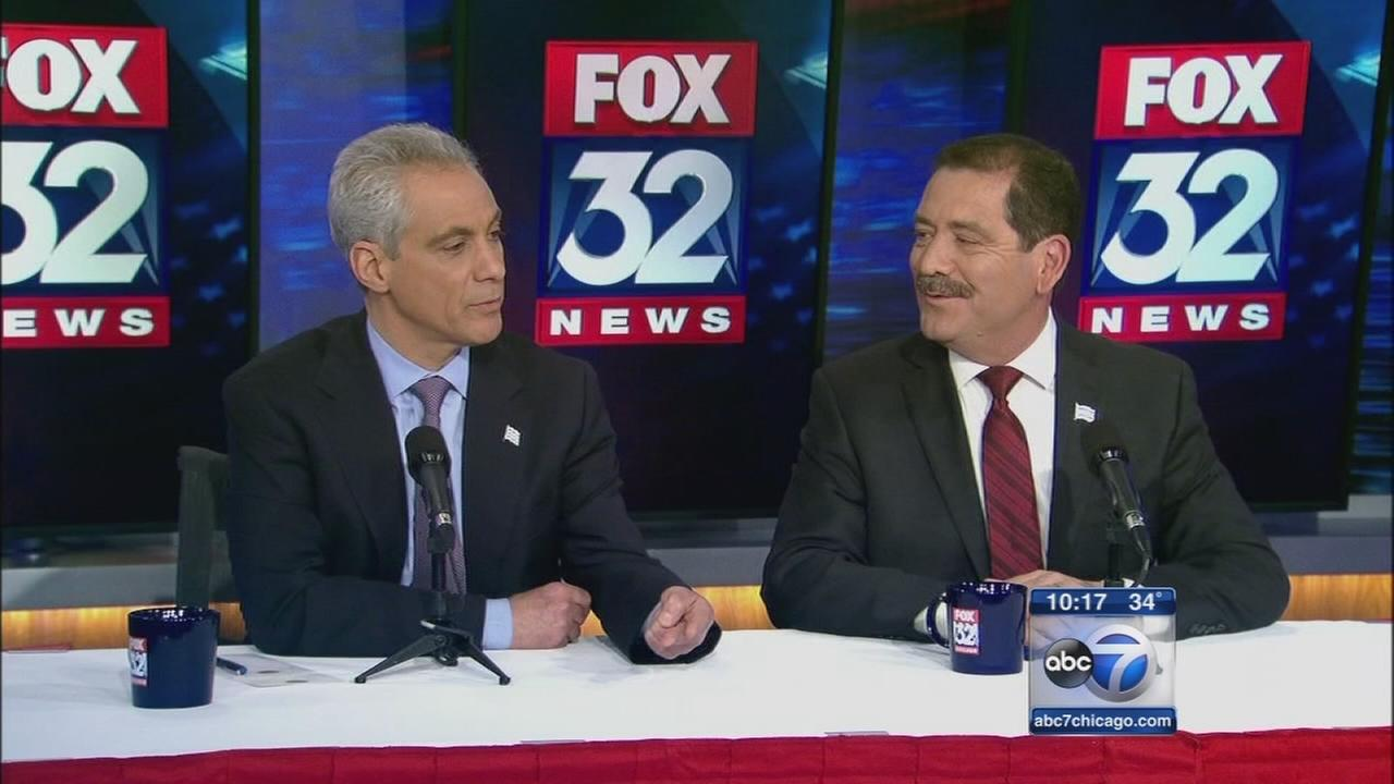 Emanuel, Garcia face off in debate