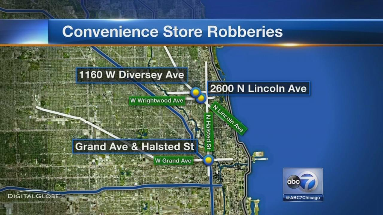 3 robberies on North Side