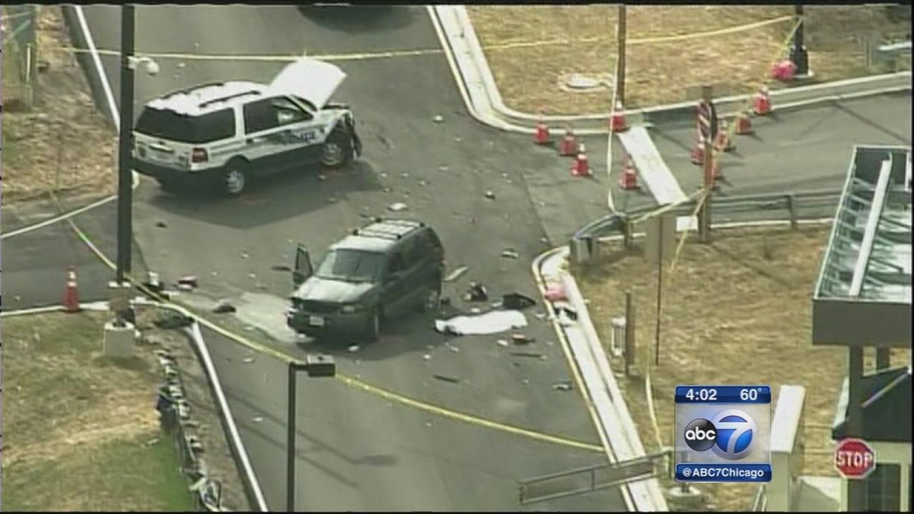 1 dead after car rams police vehicle at NSA