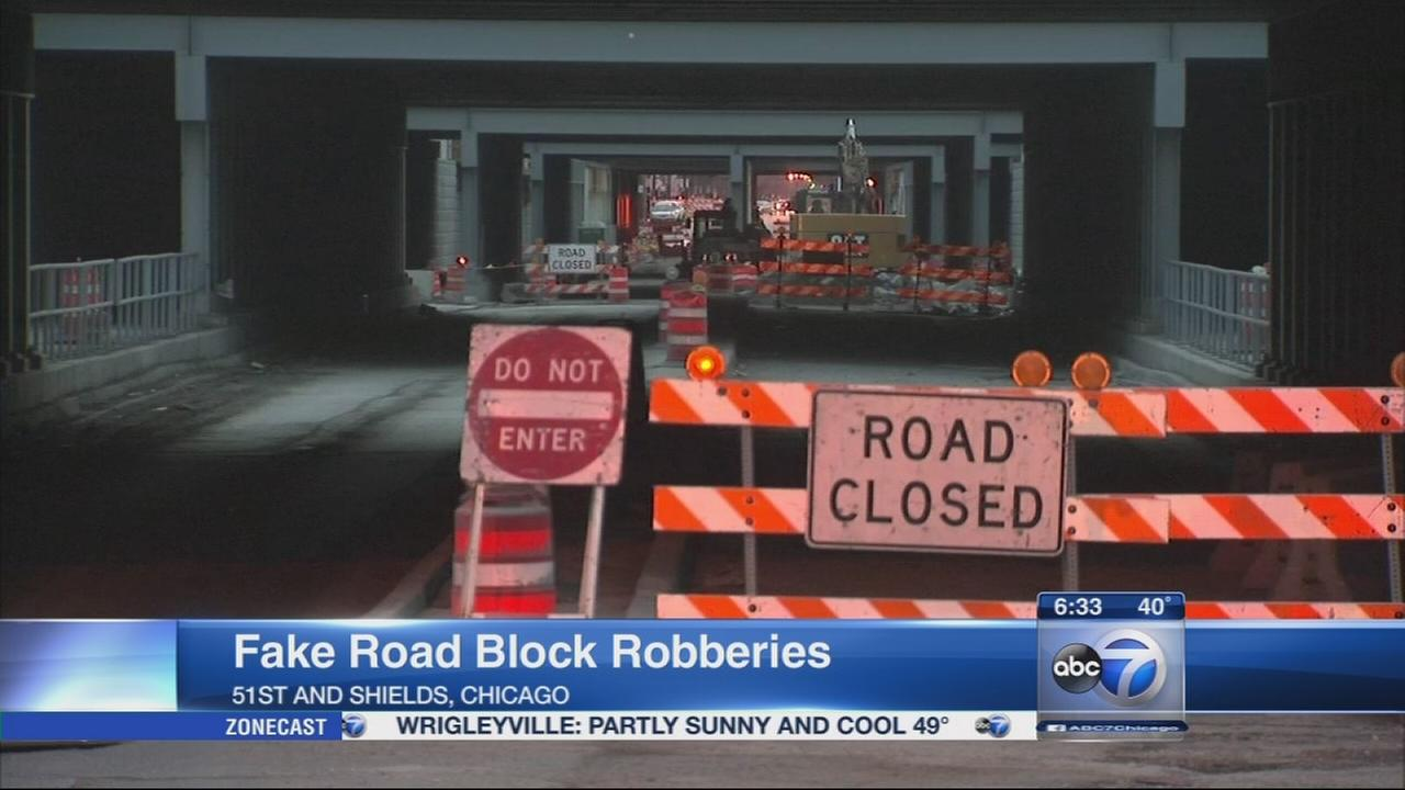 Drivers attacked by robbers using fake road block in Fuller Park, police say