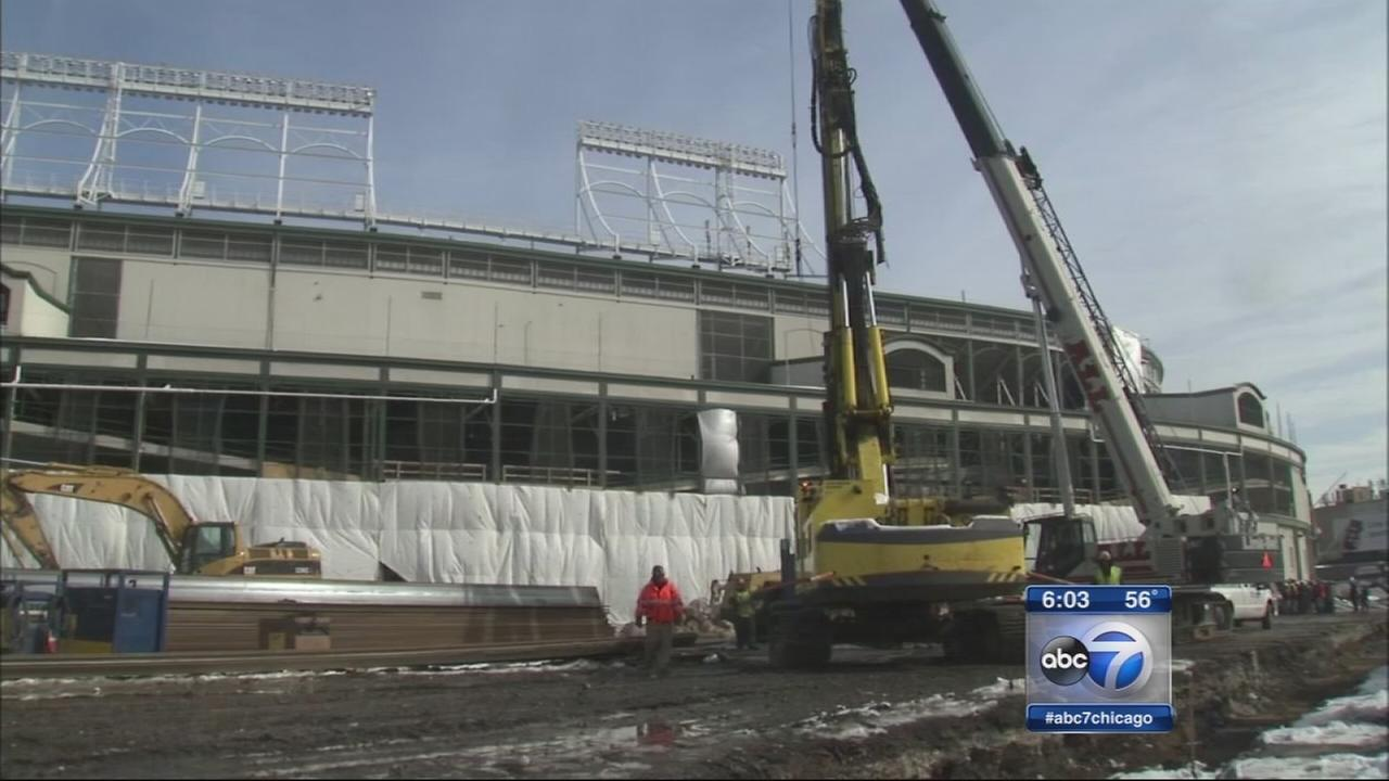 Wrigley construction continues as opening day looms