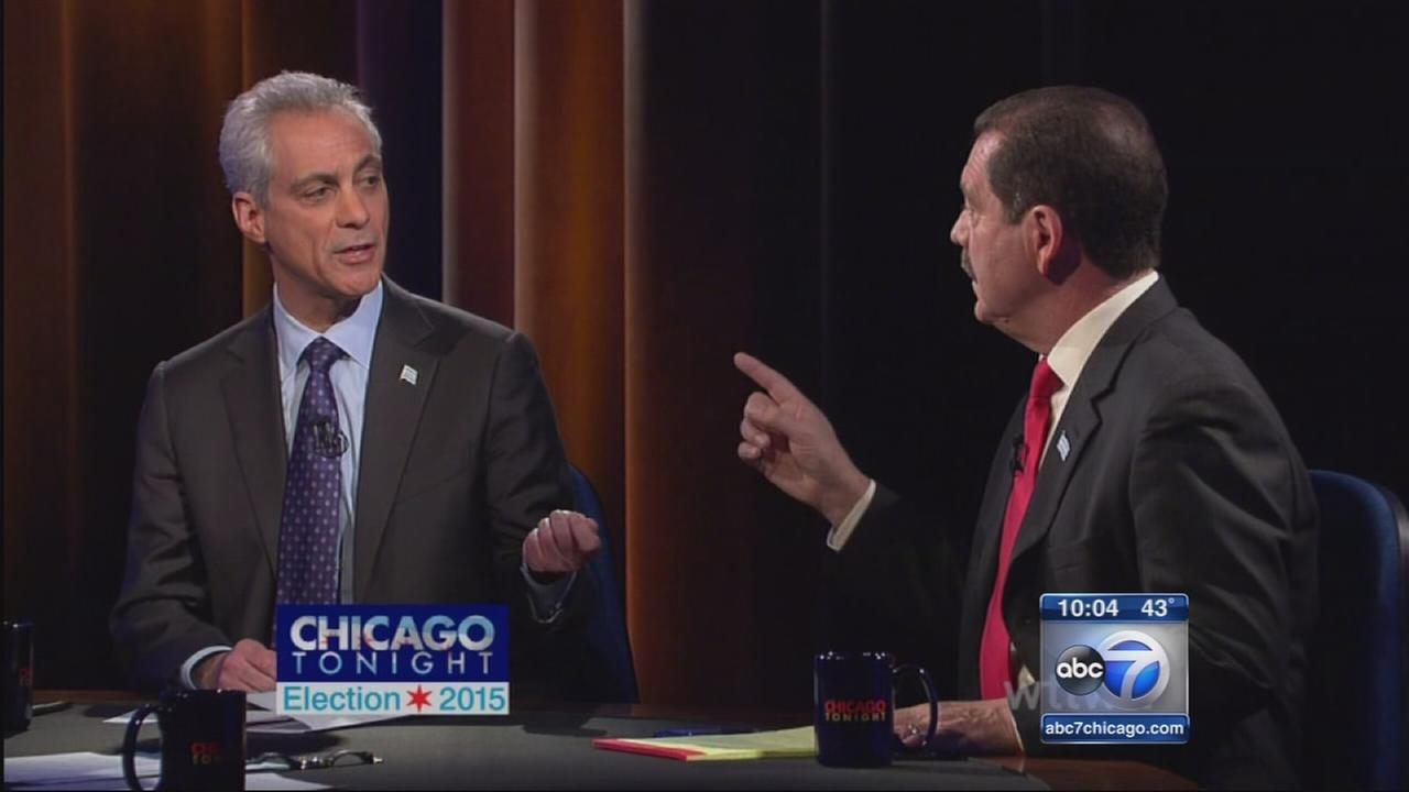 Emanuel, Garcia square off in final debate