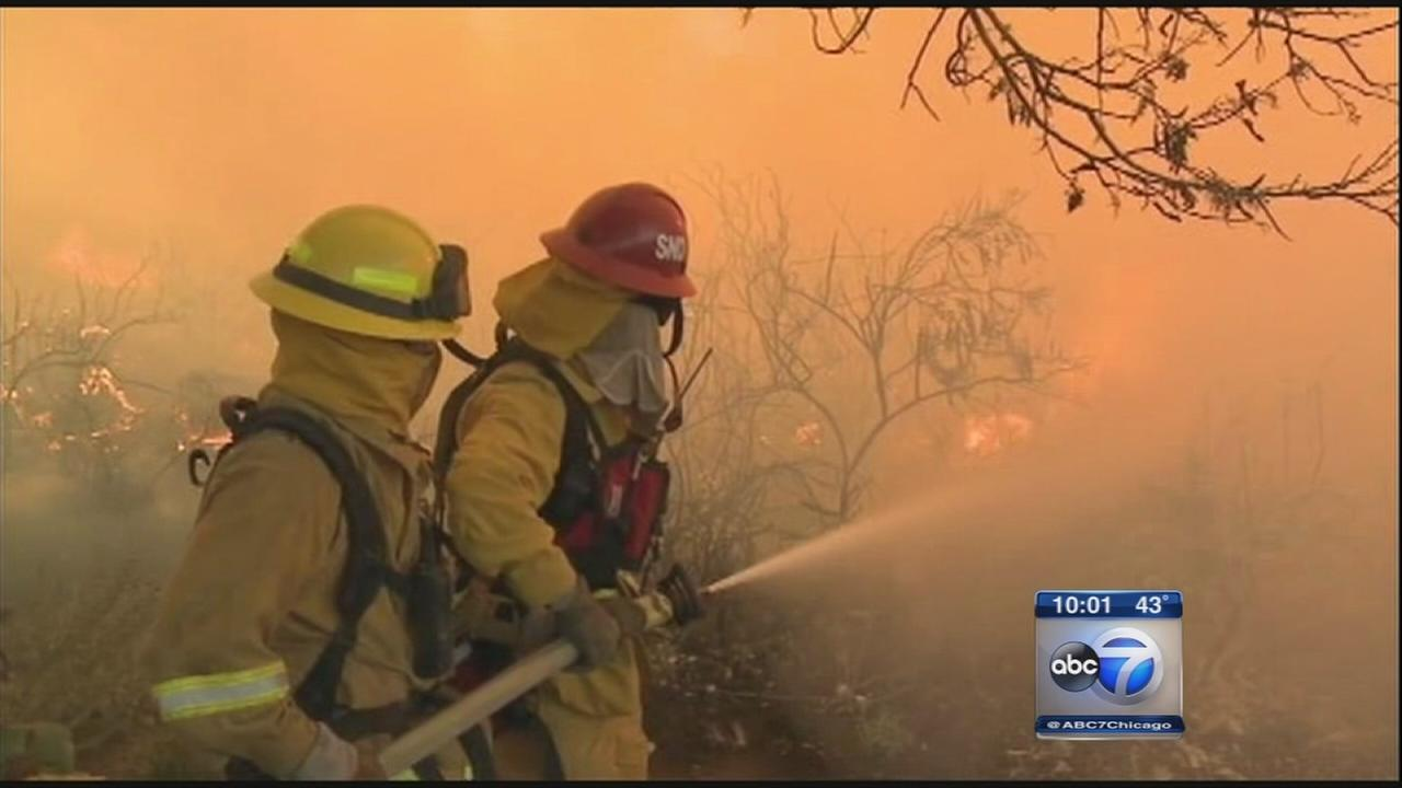 VIDEO: Crews continue battling California wildfire