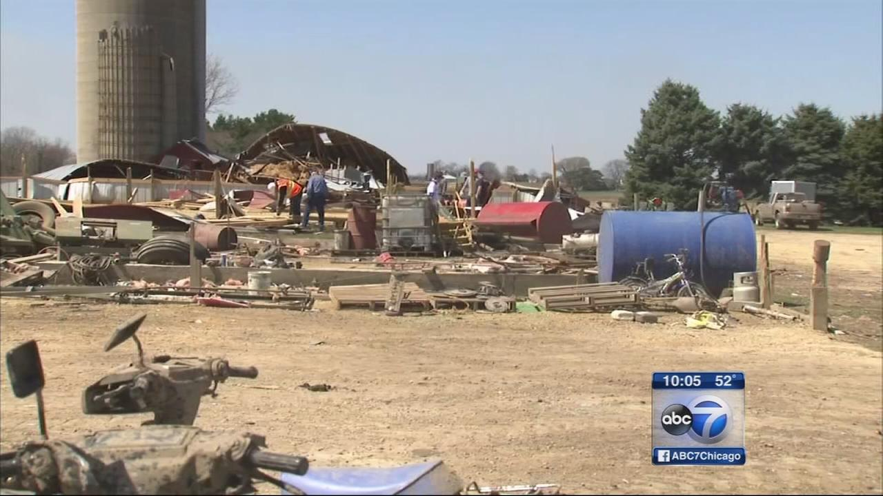 150-year-old Rochelle farm ravaged by tornado