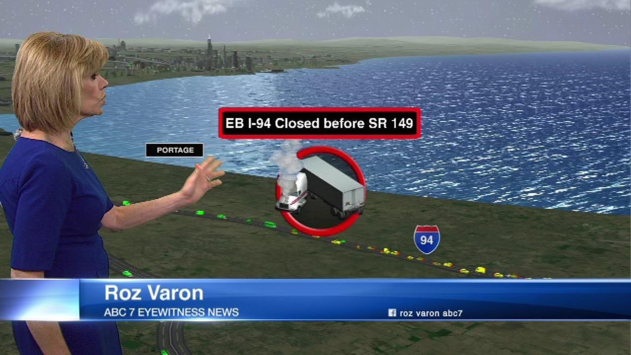 chicago weather rain leads to crashes road closures