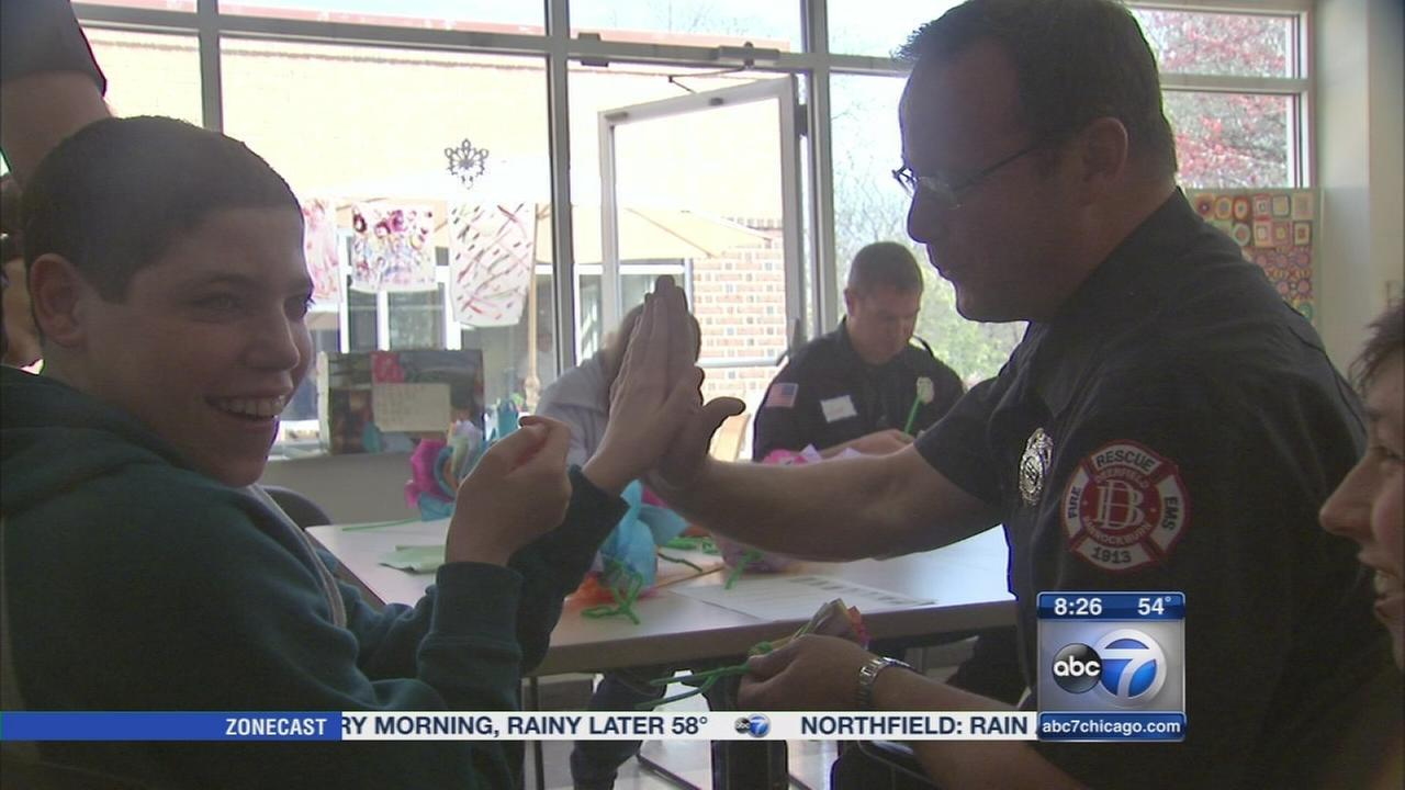 First responders work with those with disabilities