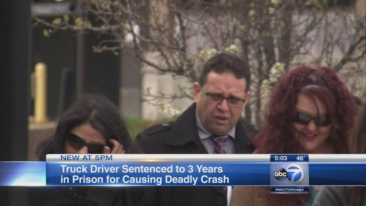 Truck driver gets 3 years in prison