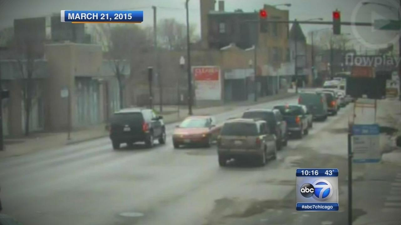 Mayors motorcade caught on wrong side of the road