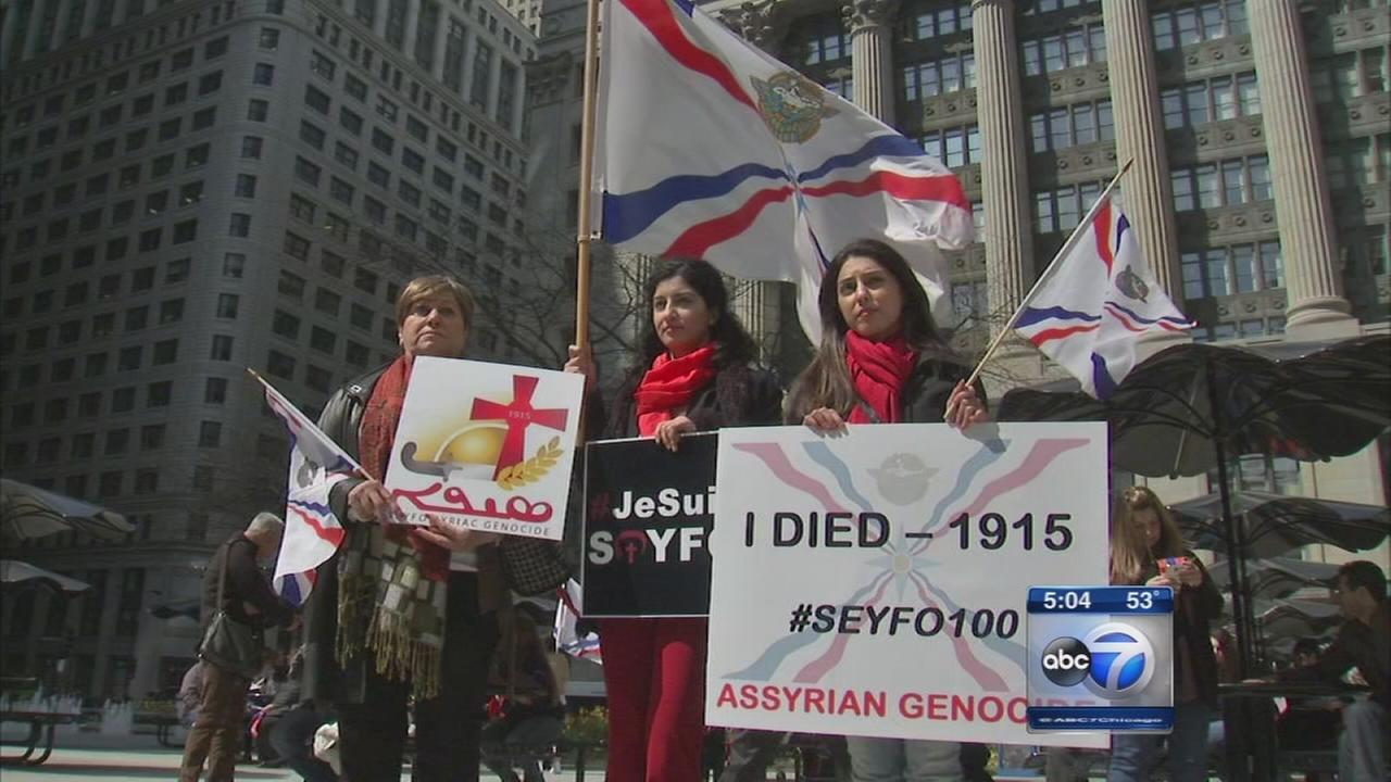 Protests mark 100th anniversary of Armenian massacres