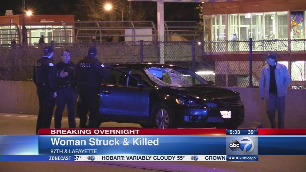 Woman fatally struck by car near Dan Ryan