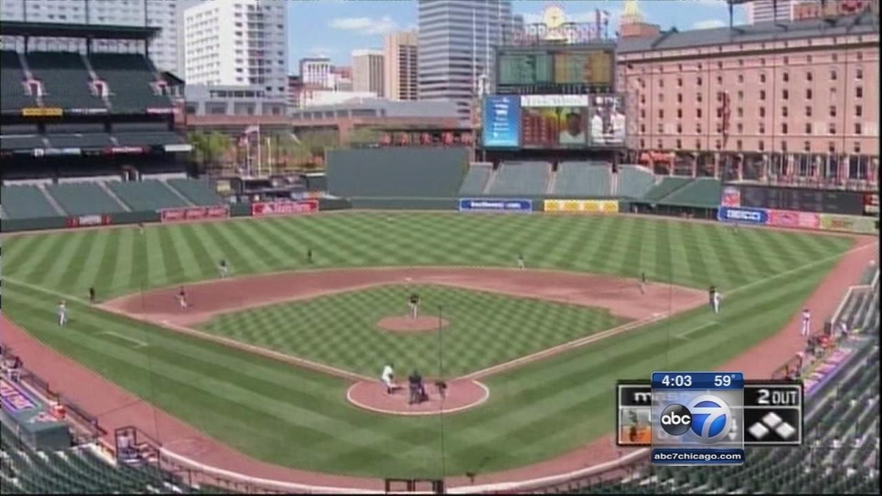 Orioles play emtpy-stadium game after Baltimore unrest