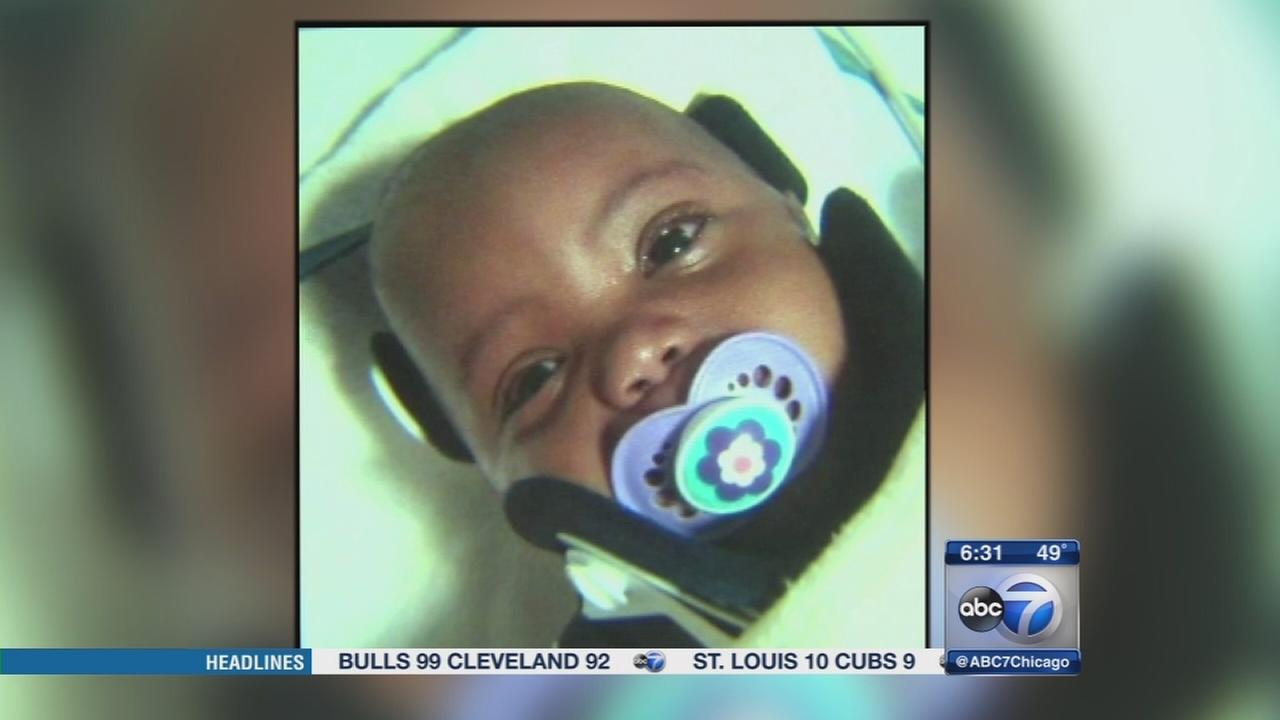 Baby struck by concrete thrown at Englewood home