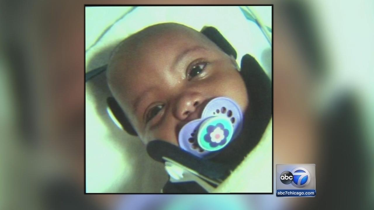 Baby struck by concrete on road to recovery