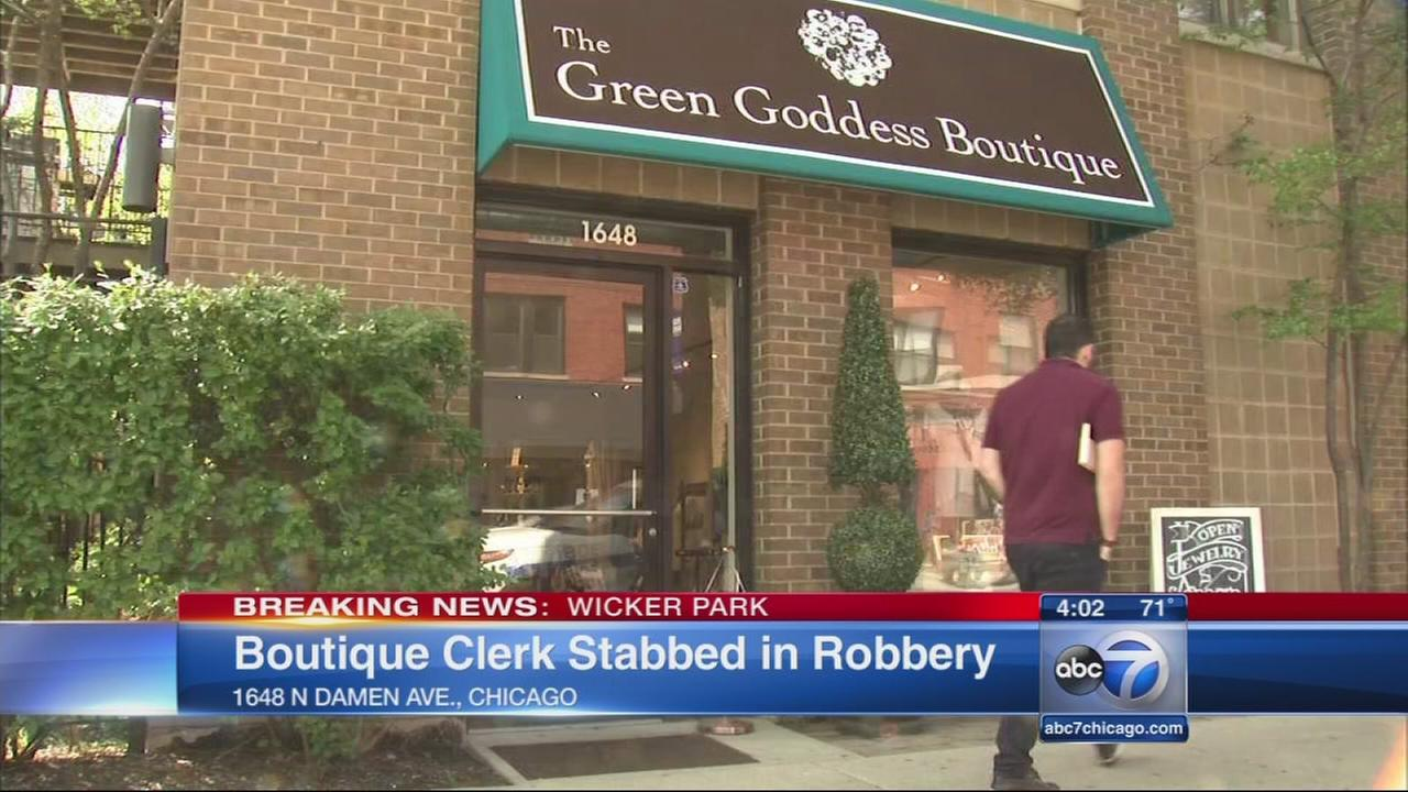Wicker Park store robbed, clerk stabbed