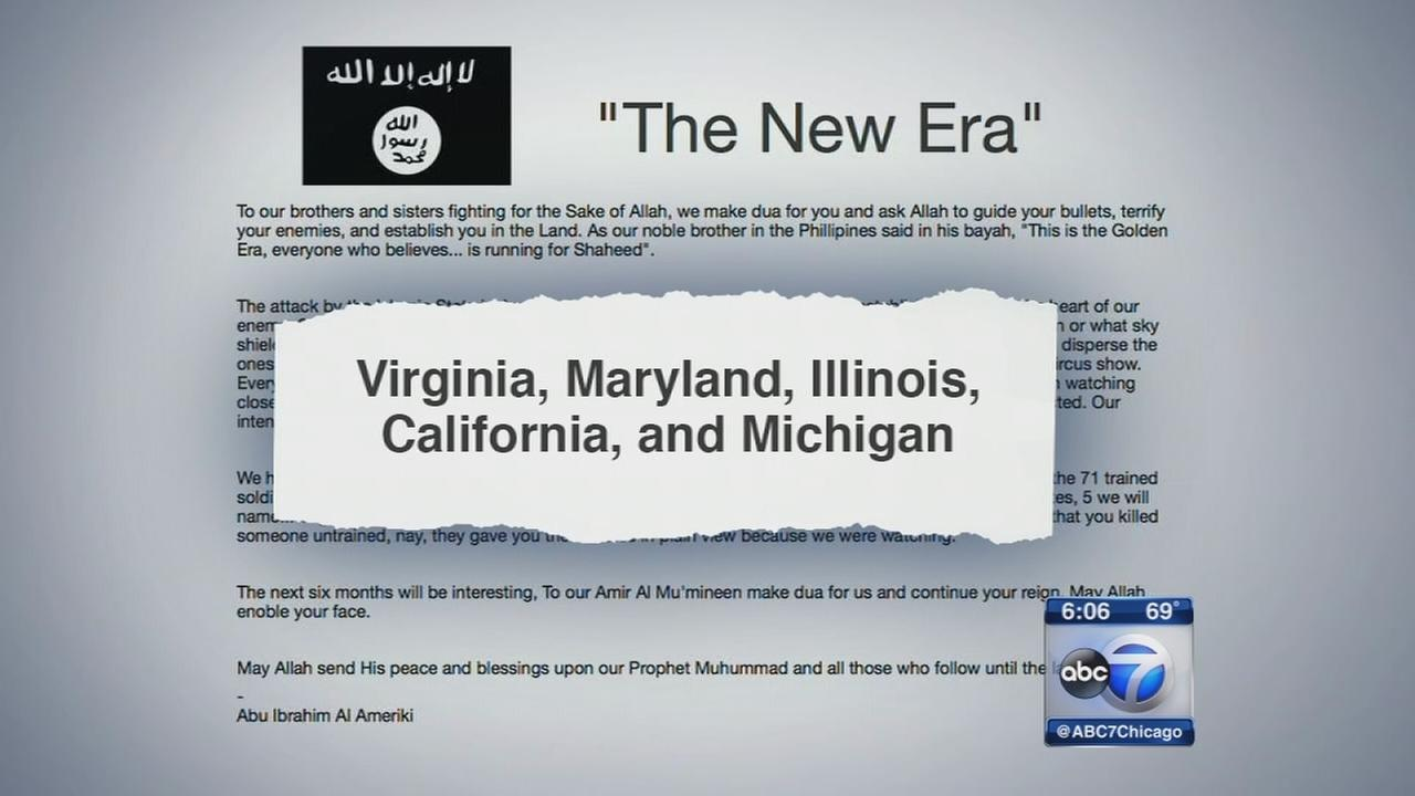 Illinois named among states with alleged ISIS cells