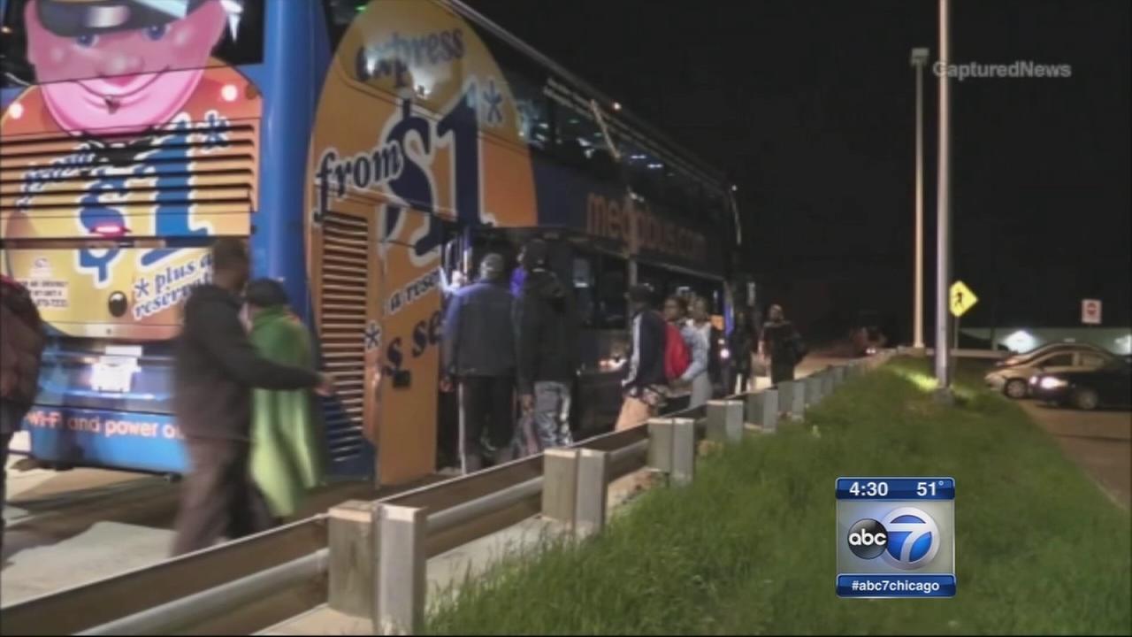 Passengers tackle man after shot fired on Megabus
