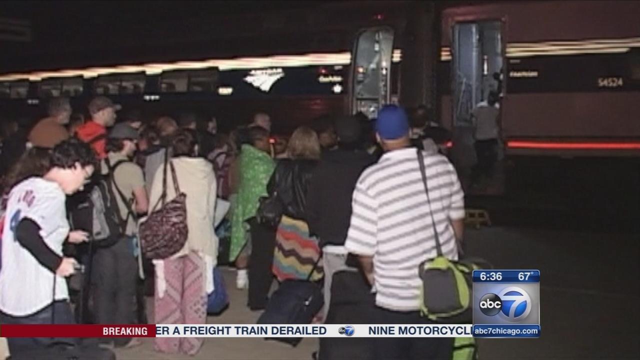 Amtrak passengers stranded for hours