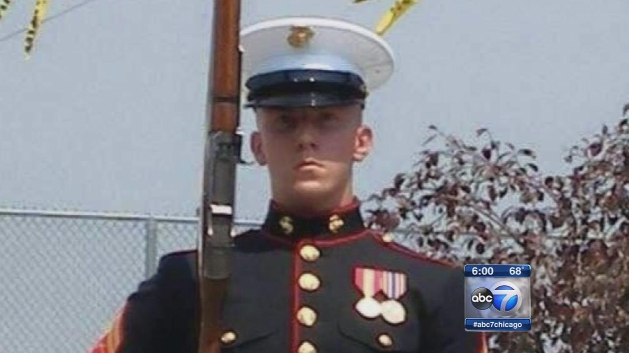 Marine laid to rest after PTSD struggle