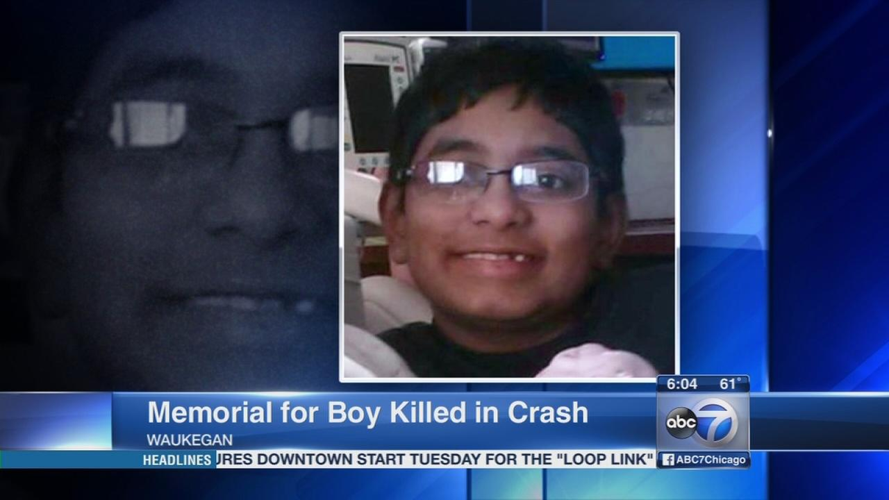 Memorial held for boy killed in crash