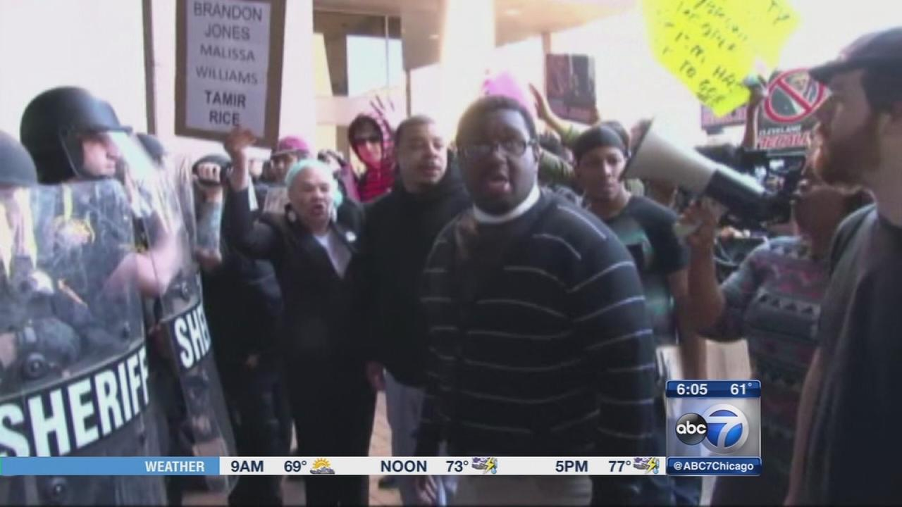 Protests in Cleveland follow aquittal of officer