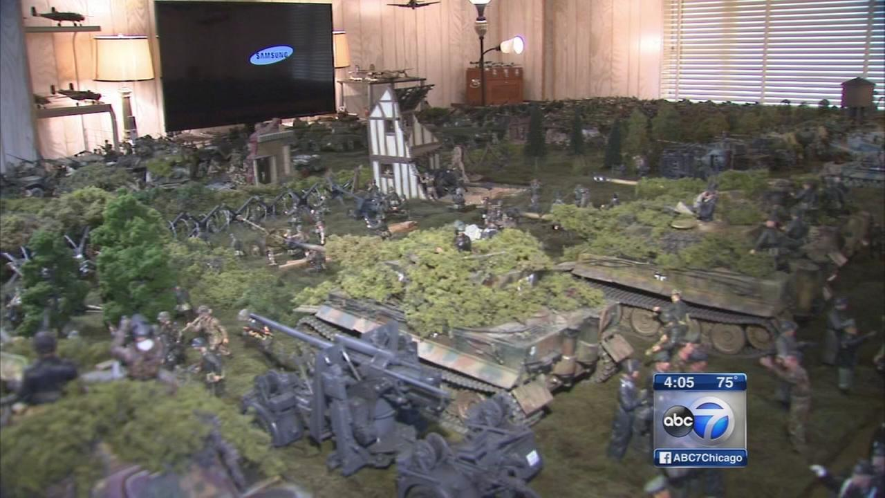 Veteran reconstructs Normandy battle scene