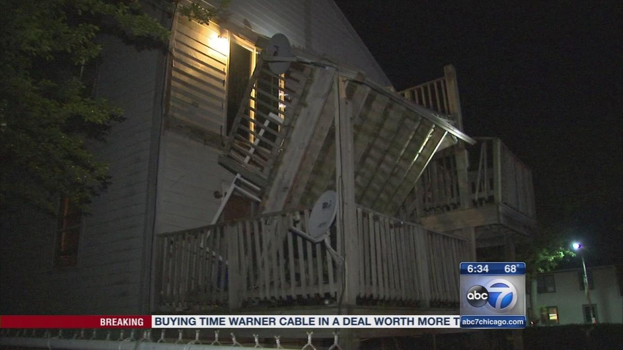 Deck improperly attached in Evanston porch collapse