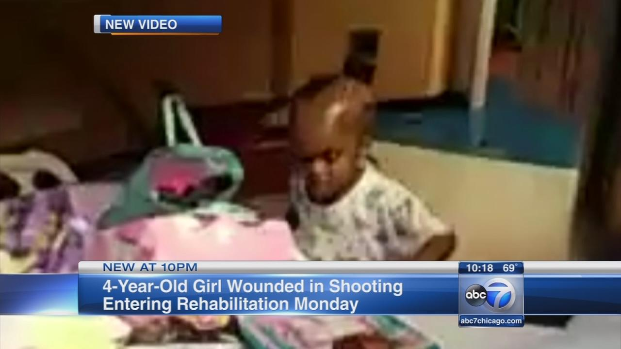 Girl wounded in shooting to enter rehab facility