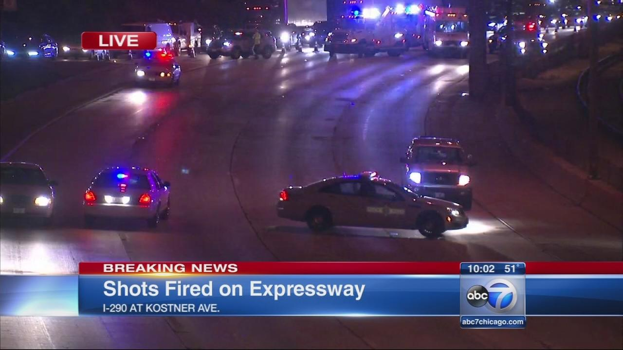 Shots fired on Eisenhower Expy.