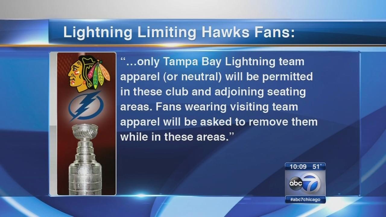 Lightning restrict tickets, game apparel