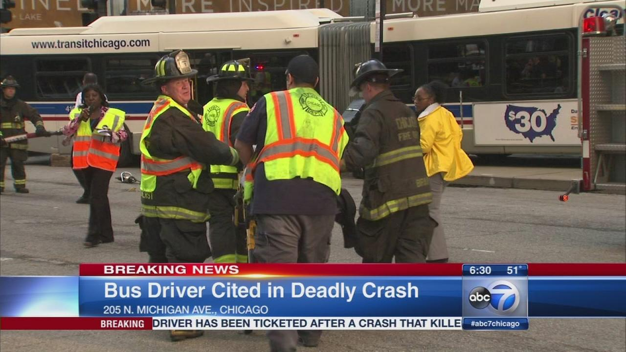 Bus driver cited in Mich. Ave crash that killed 1, injured 9