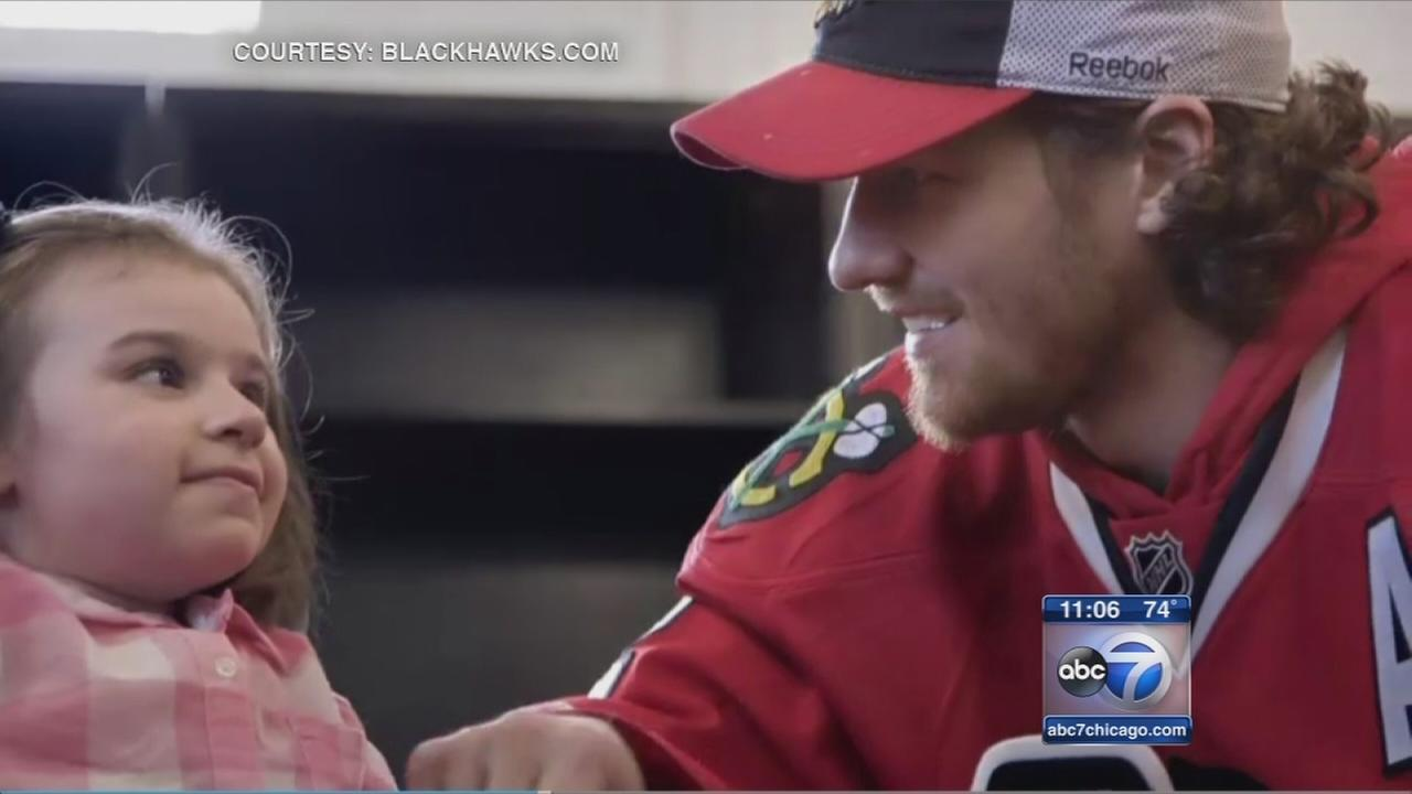 Young Hawks fan inspires on and off the ice