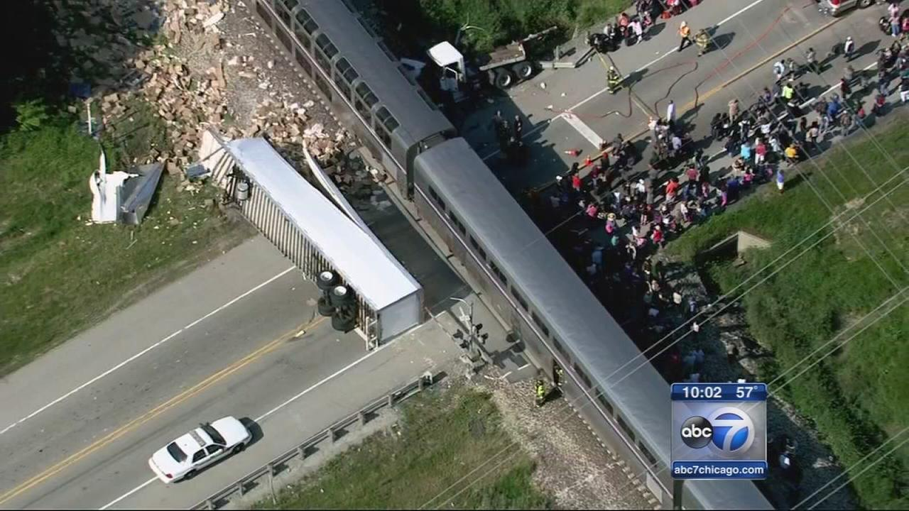Amtrak train collides with truck near Wilmington